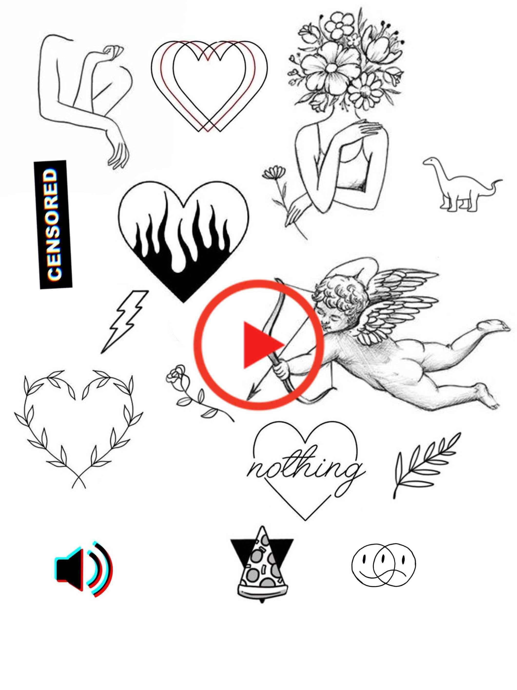 Pin By Kara Rae On Tattoos And Art Doodle Tattoo Cute Tattoos Tattoo Flash Art