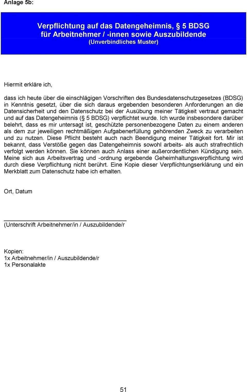 Mitarbeiter Merkblatt Zum Datenschutz Unverbindliches Muster Pdf Free Download