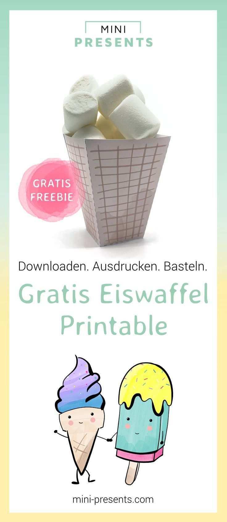 Eistute Vorlage Als Freebie Zum Ausdrucken Und Basteln Mini Presents Blog Diy Geschenke Zum Selbermachen Bastelvorlagen Zum Ausdrucken Basteln