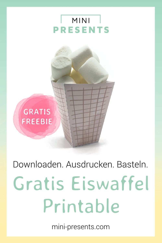 Eistute Vorlage Als Freebie Zum Ausdrucken Und Basteln Mini Presents Blog In 2020 Diy Geschenke Zum Selbermachen Basteln Ausdrucken