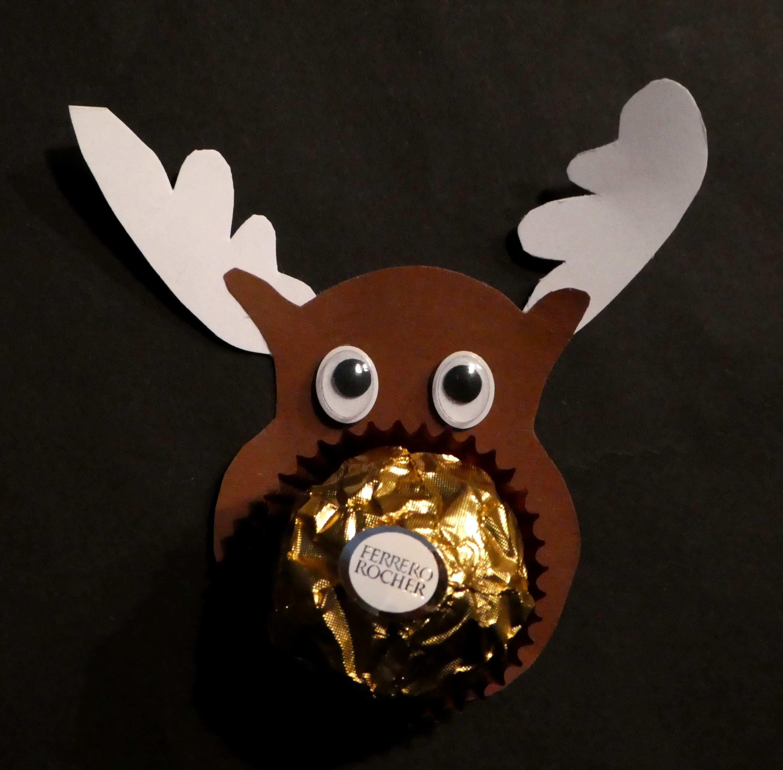 Weihnachtsbasteln Elch Ferrero Rocher Mitbringsel Kinder Weihnachtsbasteln Basteln Weihnachten Weihnachtsgeschenke Basteln