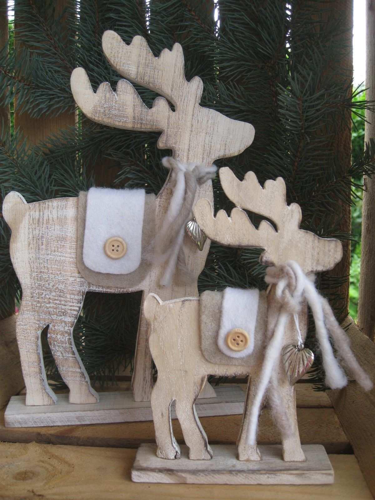 Grosser Elch Aus Holz Mit Filzdeko U Herz Rentier Weihnachten Deko Shabby Hirsch Eur 14 95 Weihnachten Dekoration Rentier Weihnachten Deko Holz Weihnachten