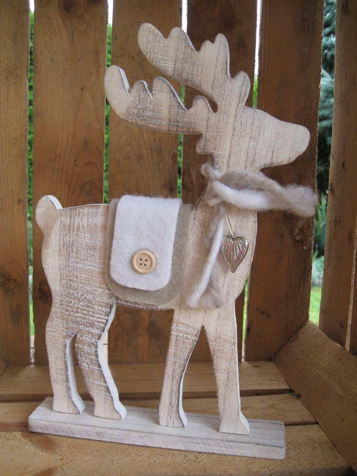 Grosser Elch Aus Holz Mit Filzdeko U Herz Rentier Weihnachten Deko Shabby Hirsch Eur 14 95 Xxl Bi Rentier Weihnachten Deko Holz Weihnachten Weihnachten Holz