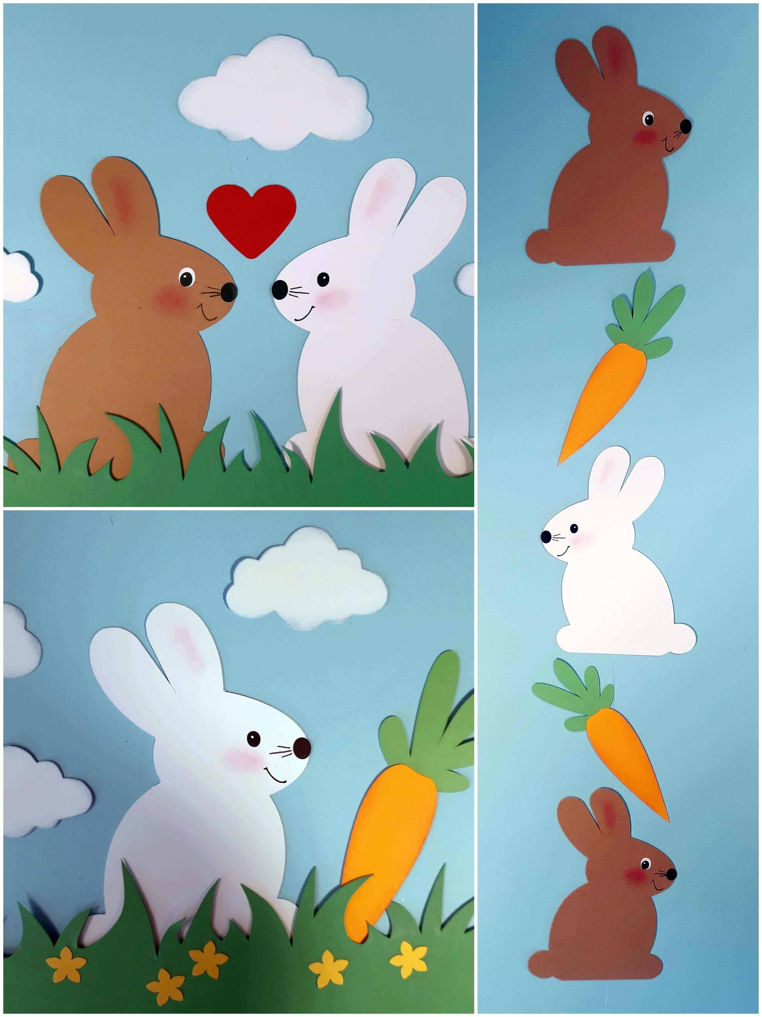 Hier Zeige Ich Euch Eine Ganz Einfache Form Eines Hasens Fur Vielfaltige Bastelmoglichkeiten Welche Auch Schon Kleinere Kinde In 2020 Easter Bunny Paper Crafts Crafts