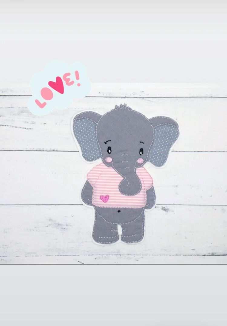 Applikation Elefant Nahprojekte Elefant Applikation Diy Nahprojekte