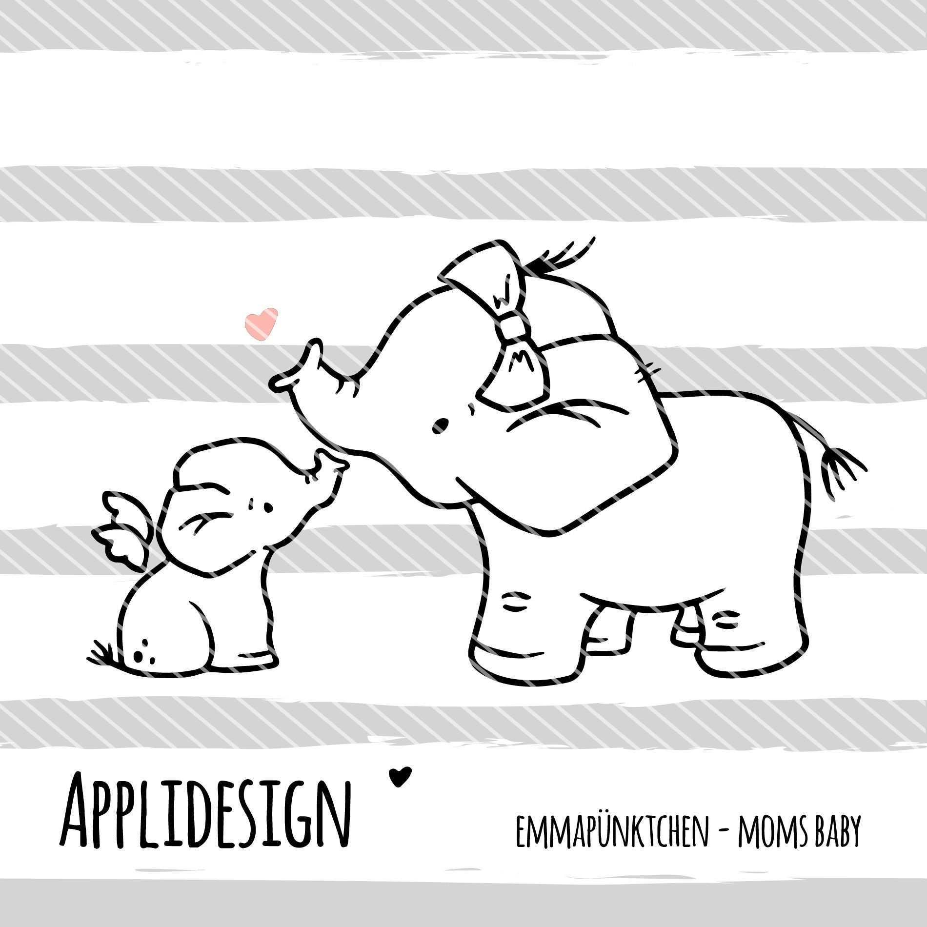 Emmapunktchen Moms Baby Applikation Vorlagen Applikationsvorlage Baby Drucke
