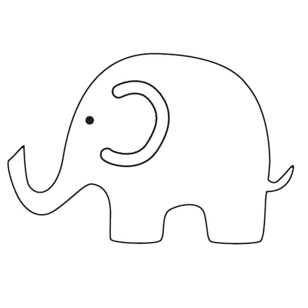 Large Elephant Plasma Image 1 Elephant Template Elephant Applique Animal Templates