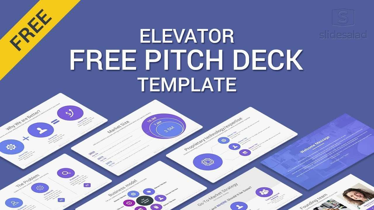 Elevator Free Pitch Deck Powerpoint Template Of 2019 2018 Youtube