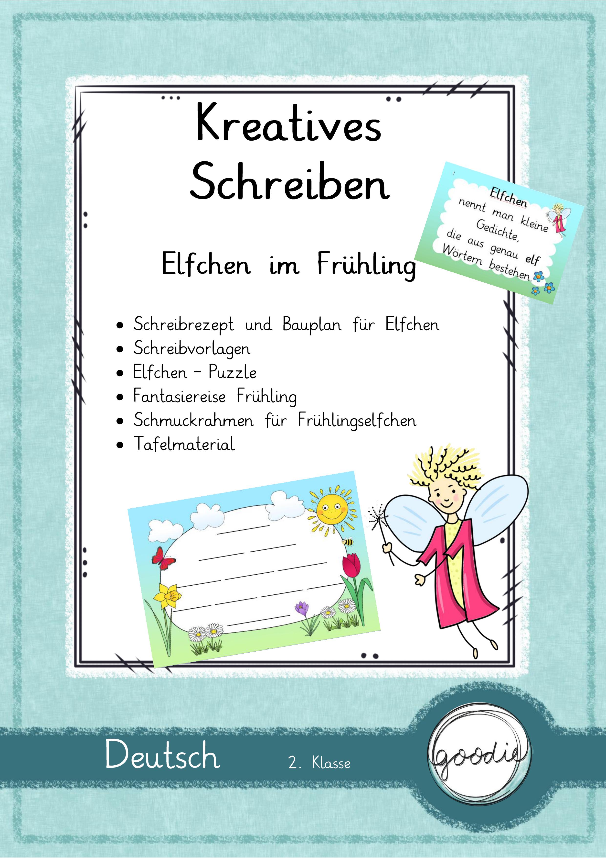 Kreatives Schreiben Elfchen Im Fruhling Unterrichtsmaterial In Den Fachern Deutsch Englisch Fachubergreifendes Elfchen Kreatives Schreiben Schreiben