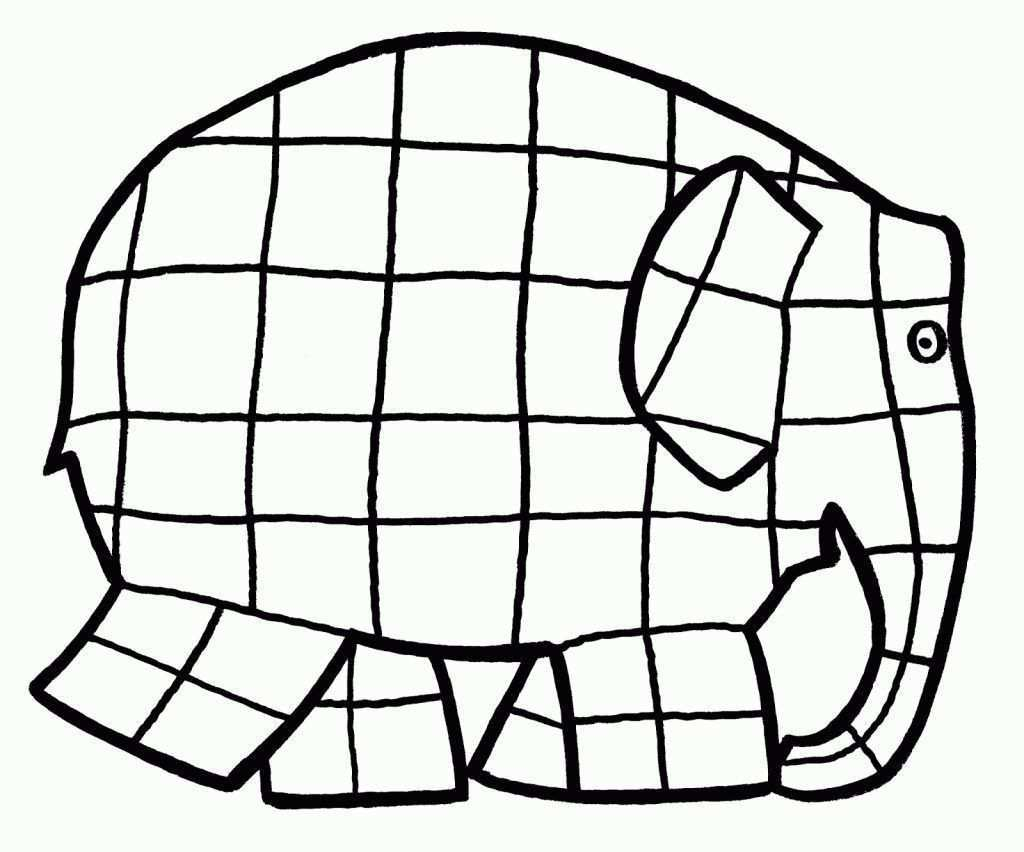 Elmer Para Colorear Elephant Template Elephant Coloring Page Elmer The Elephants