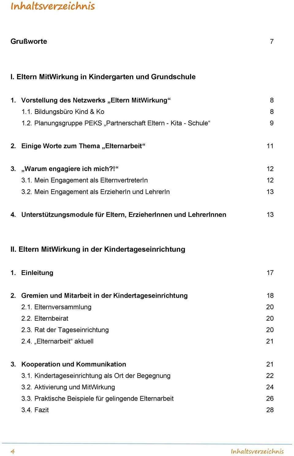 Eltern Mitwirkung In Kindergarten Und Grundschule Pdf Kostenfreier Download