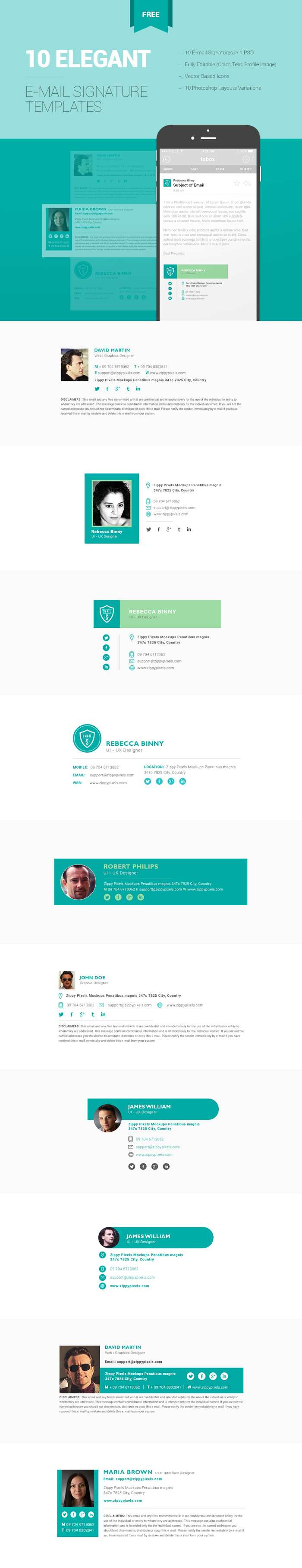 10 Free Email Signature Templates Free Email Signature Email Signatures Email Signature Templates