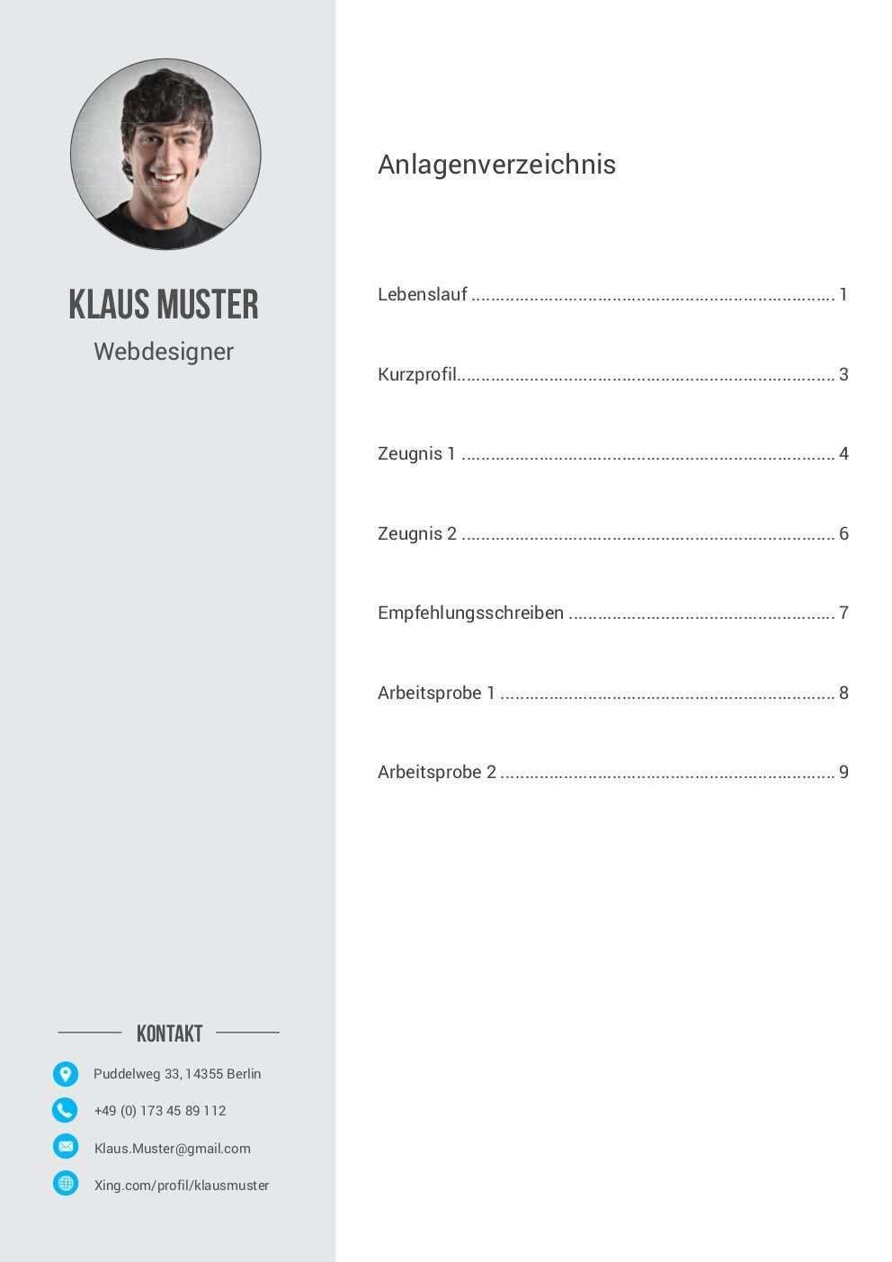 Premium Bewerbungsmuster 6 Lebenslaufdesigns De Vorlagen Lebenslauf Empfehlungsschreiben Lebenslauf