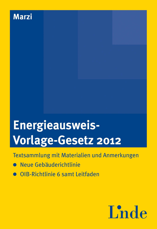 Energieausweis Vorlage Gesetz 2012 Linde Verlag