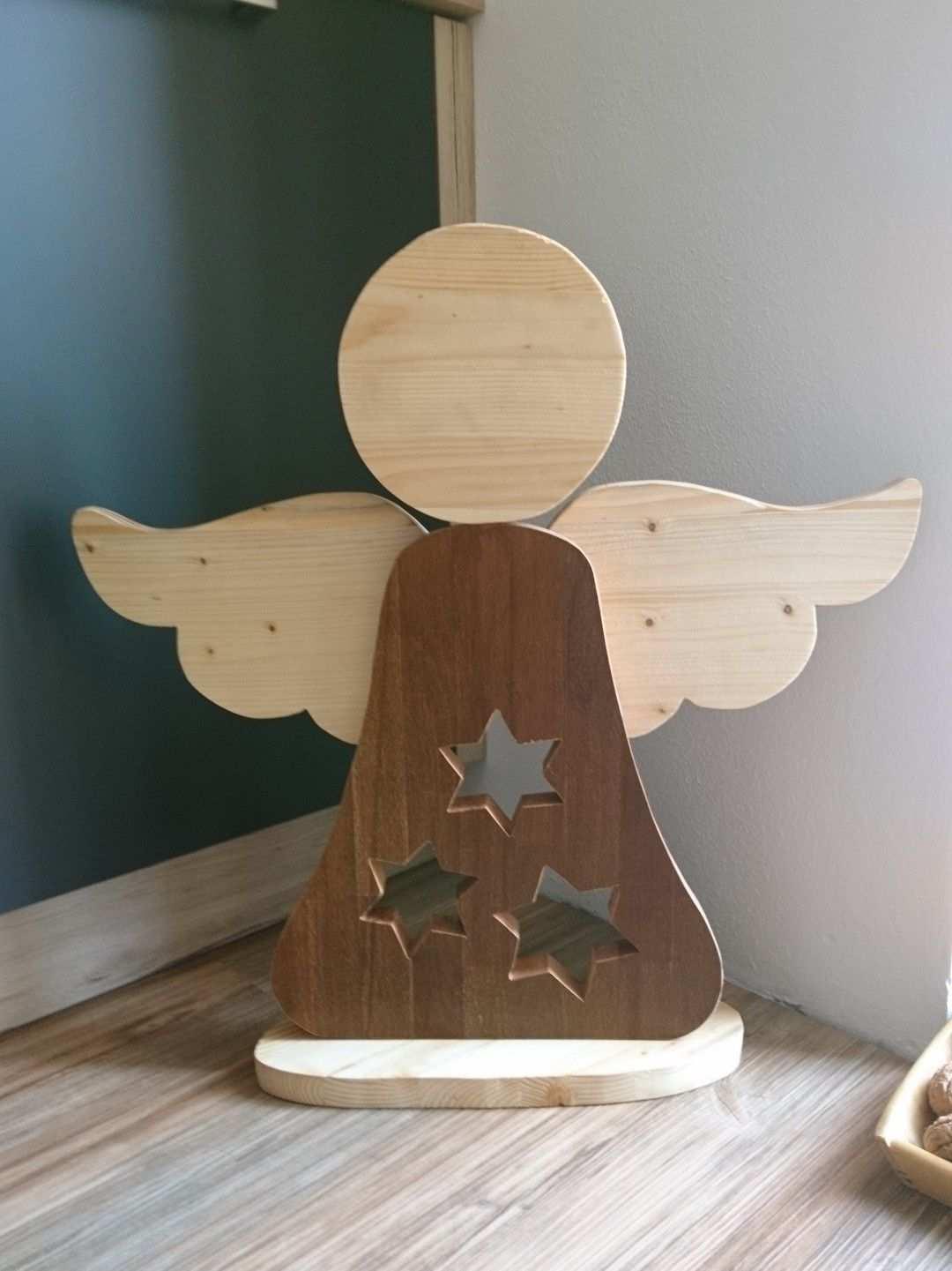Engel Aus Holzresten Holz Basteln Weihnachten Deko Holz Weihnachten Weihnachtsholz