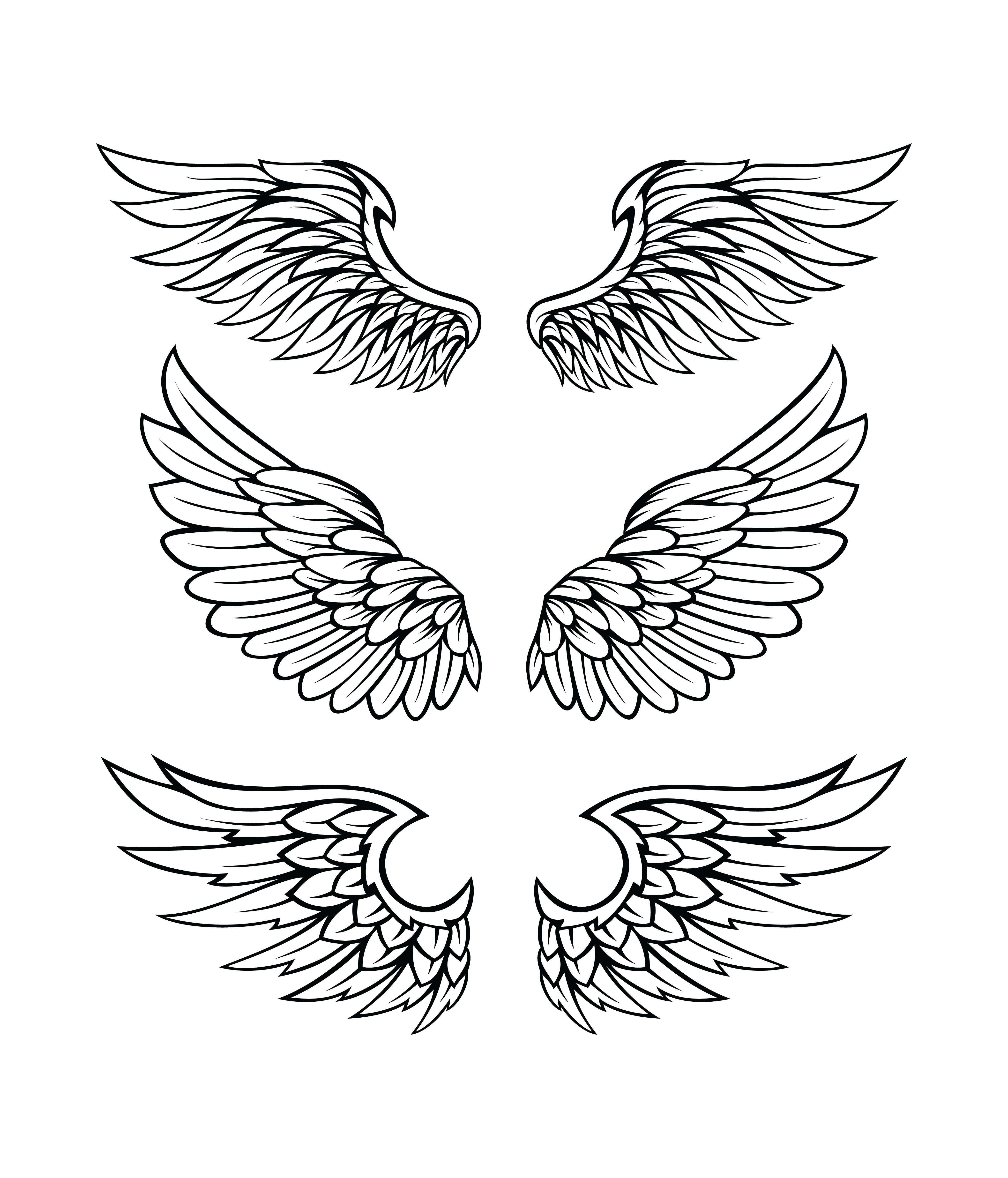 You Can Download For Personal Use Click Image For More Details Required Eps File Zip Archive Wings Tattoo Tattoo Lettering Styles Eagle Wing Tattoos
