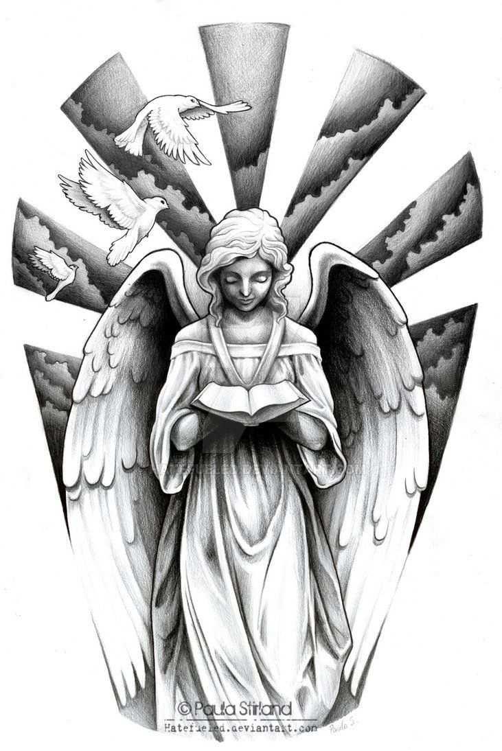Angel De La Muerte Dulce Compania Engel Tattoo Vorlagen Engel Des Todes