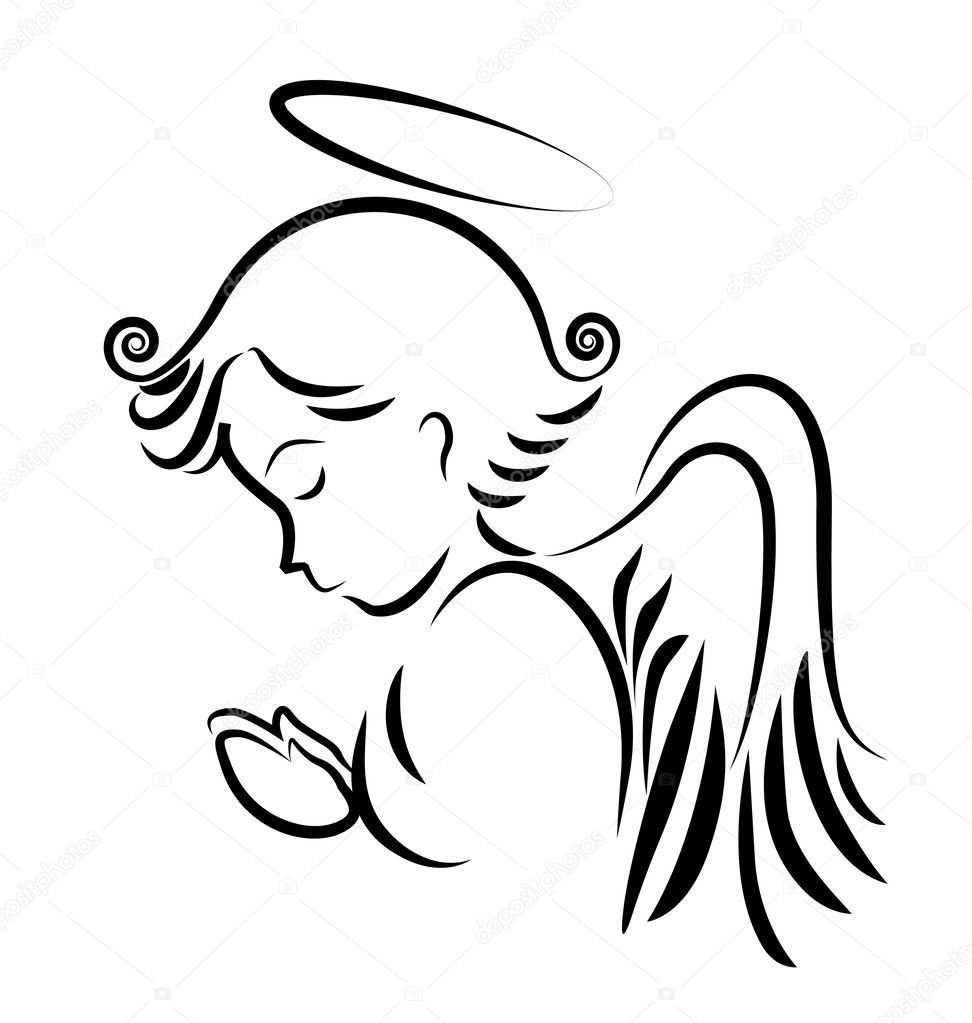 Descargar Logotipo Rogacion Angel Ilustracion De Stock Engel Zeichnen Engel Zeichnung Engel Tattoo Vorlagen