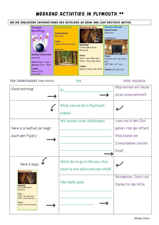Englisch Mediation Weekend Activities Materialpaket Unterrichtsmaterial In Den Fachern Englisch Fachubergreifendes Unterrichtsmaterial Lernen Lernstrategien