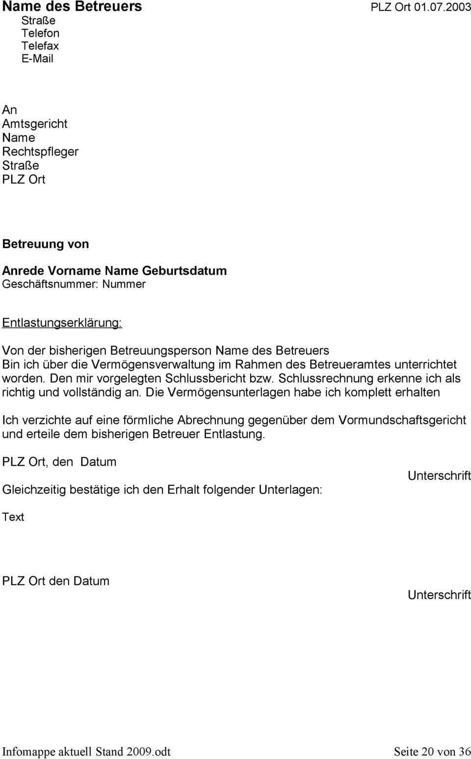 Informationsmappe Fur Ehrenamtliche Betreuer Und Betreuerinnen Pdf Free Download