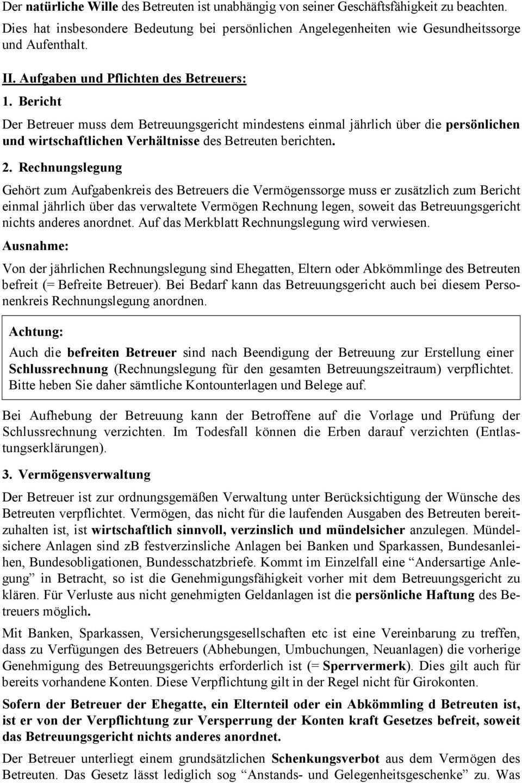 Merkblatt Fur Die Betreuerinnen Und Betreuer Pdf Kostenfreier Download