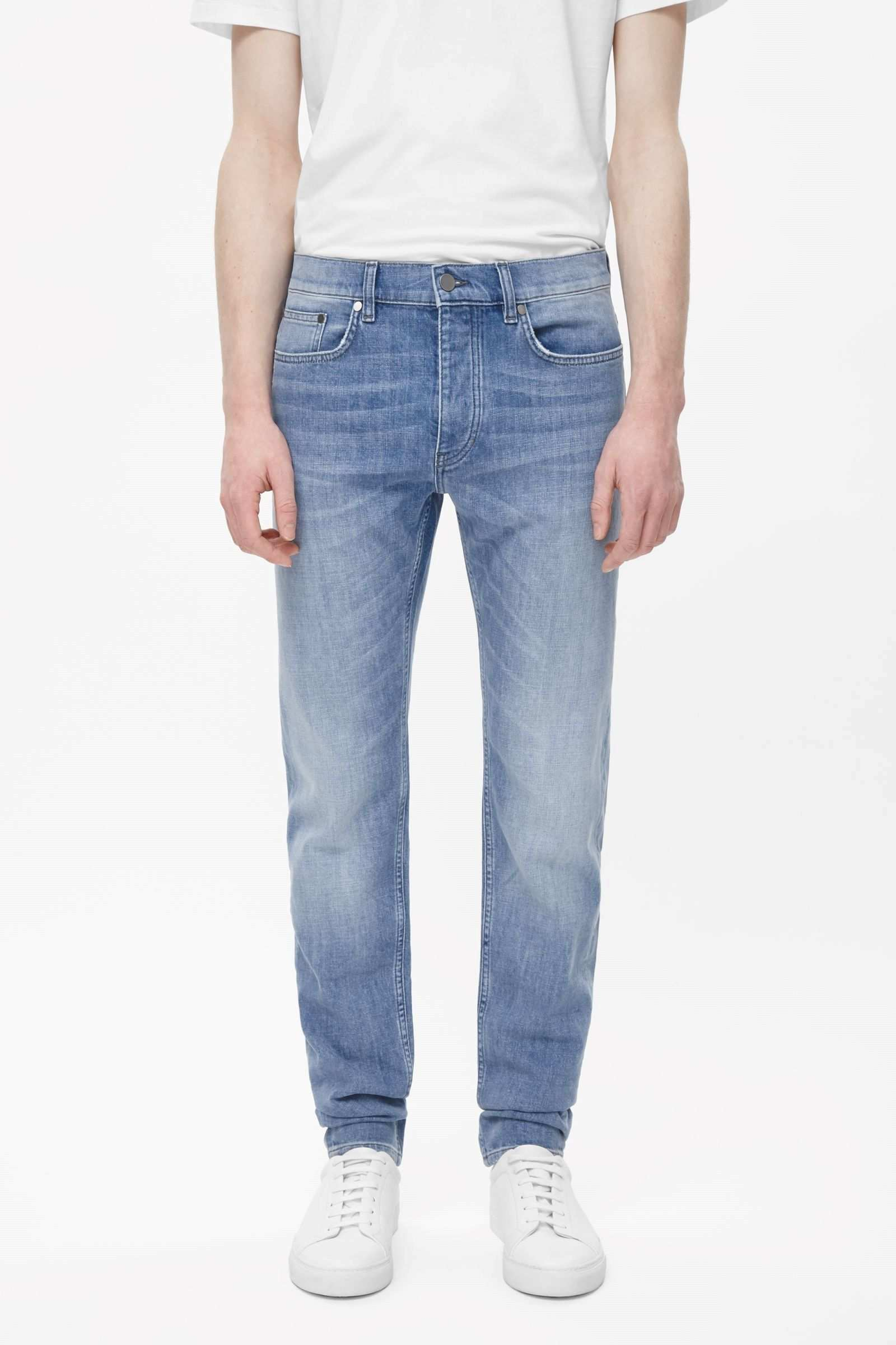 Cos Image 2 Of Slim Tapered Jeans In Blue Latest Clothes For Men Mens Outfits Tapered Jeans