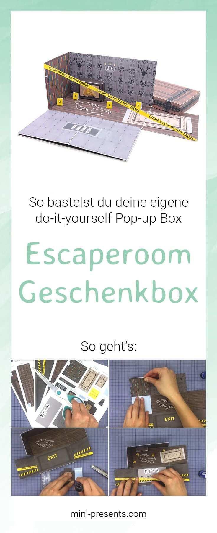 Do It Yourself Escape Room Geschenkbox Als Gutschein Mini Presents Blog Do It Yourself Geschenke Geschenke Geschenkbox