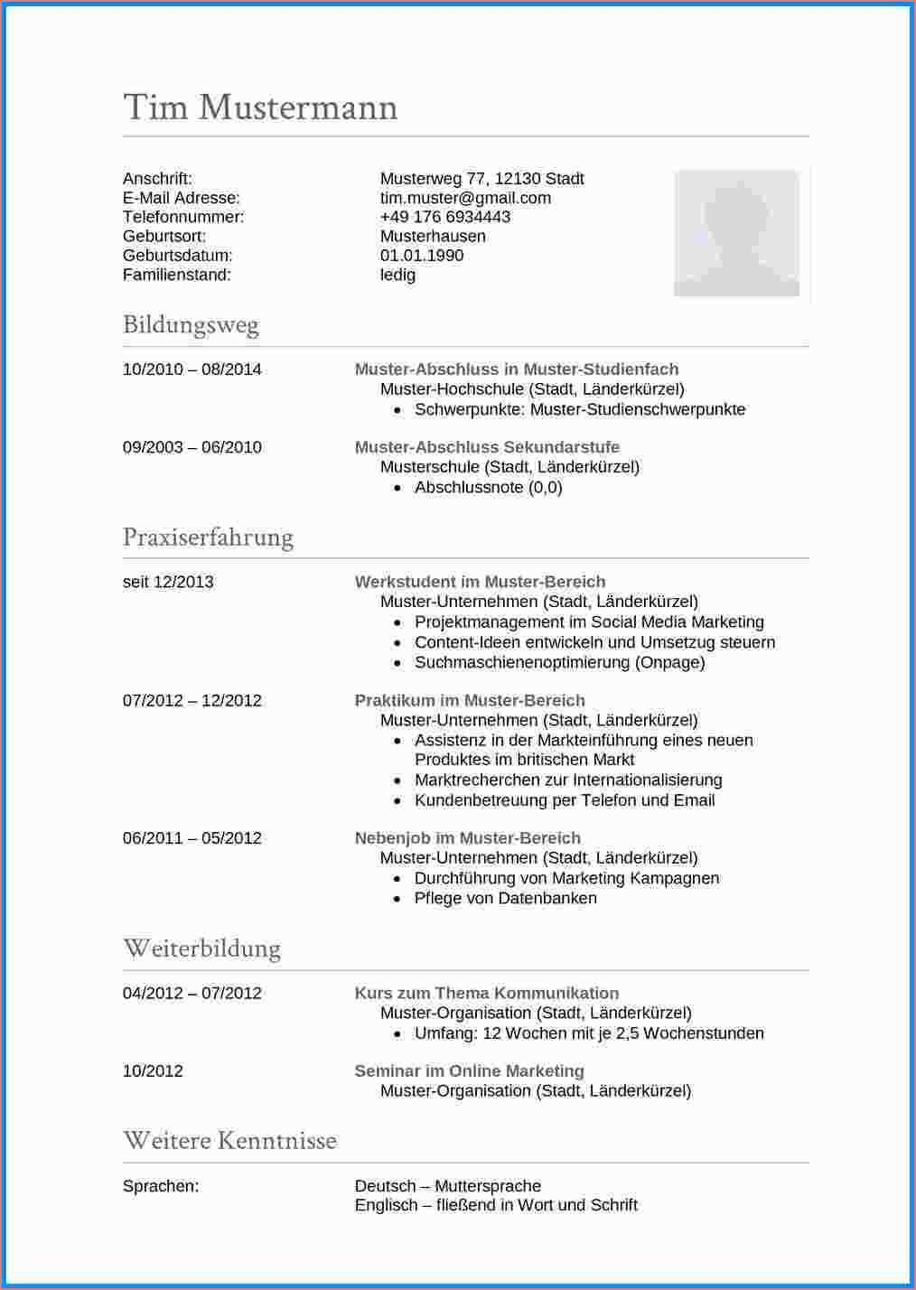 14 Hervorragend Lebenslauf Vorlage Englisch Fotos Resume Words Document Templates Types Of Resumes