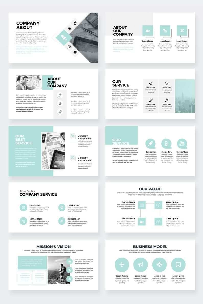 Company Pro Clean Business Powerpoint Presentation Template Etsy Presentation Design Layout Powerpoint Presentation Templates Powerpoint Presentation Design
