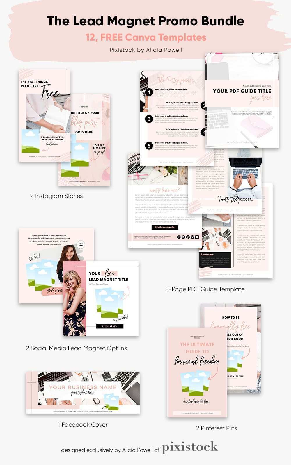 12 Free Canva Templates For Entrepreners And Vas Ebook Template Design Ebook Template Workbook Template