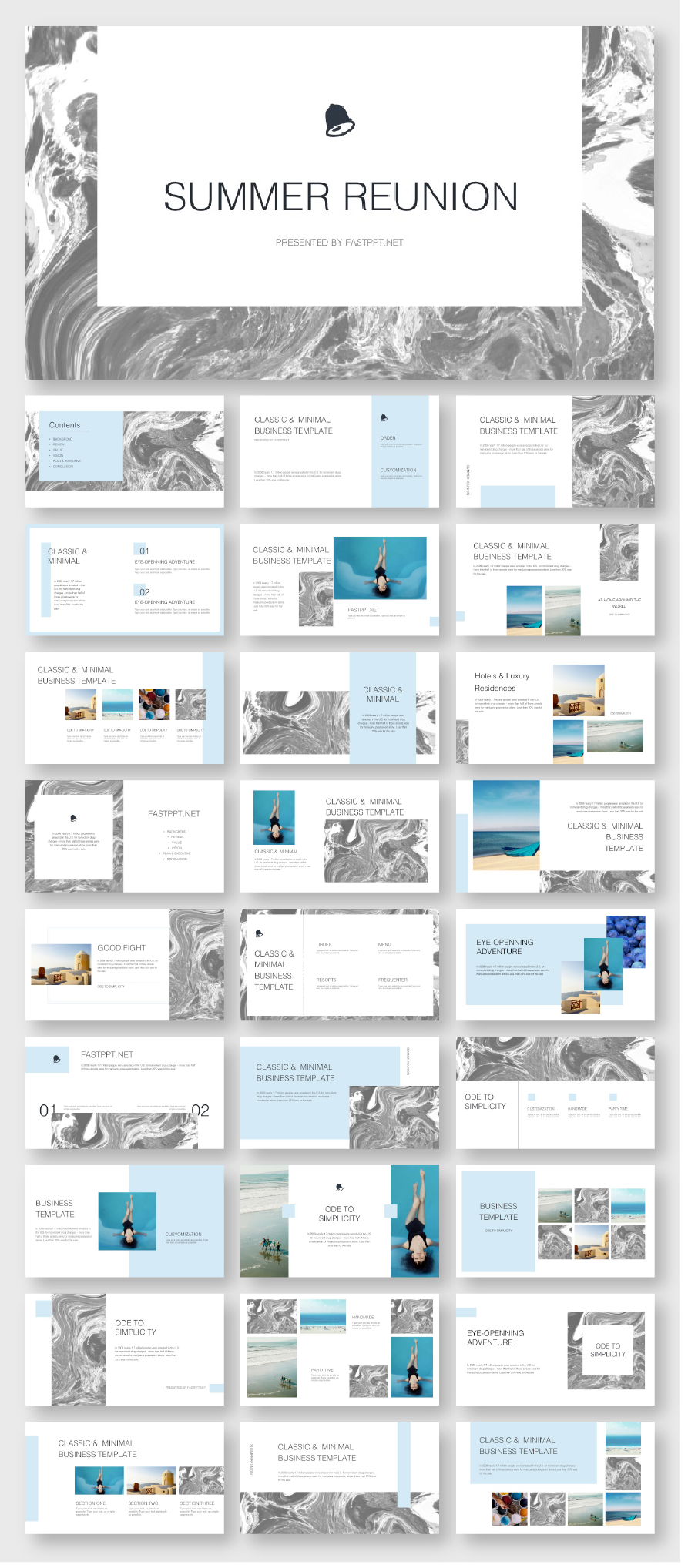 Marble Business Design Presentation Template Original And High Quality Powerpoint Templates Presentation Design Powerpoint Design Templates Presentation Templates