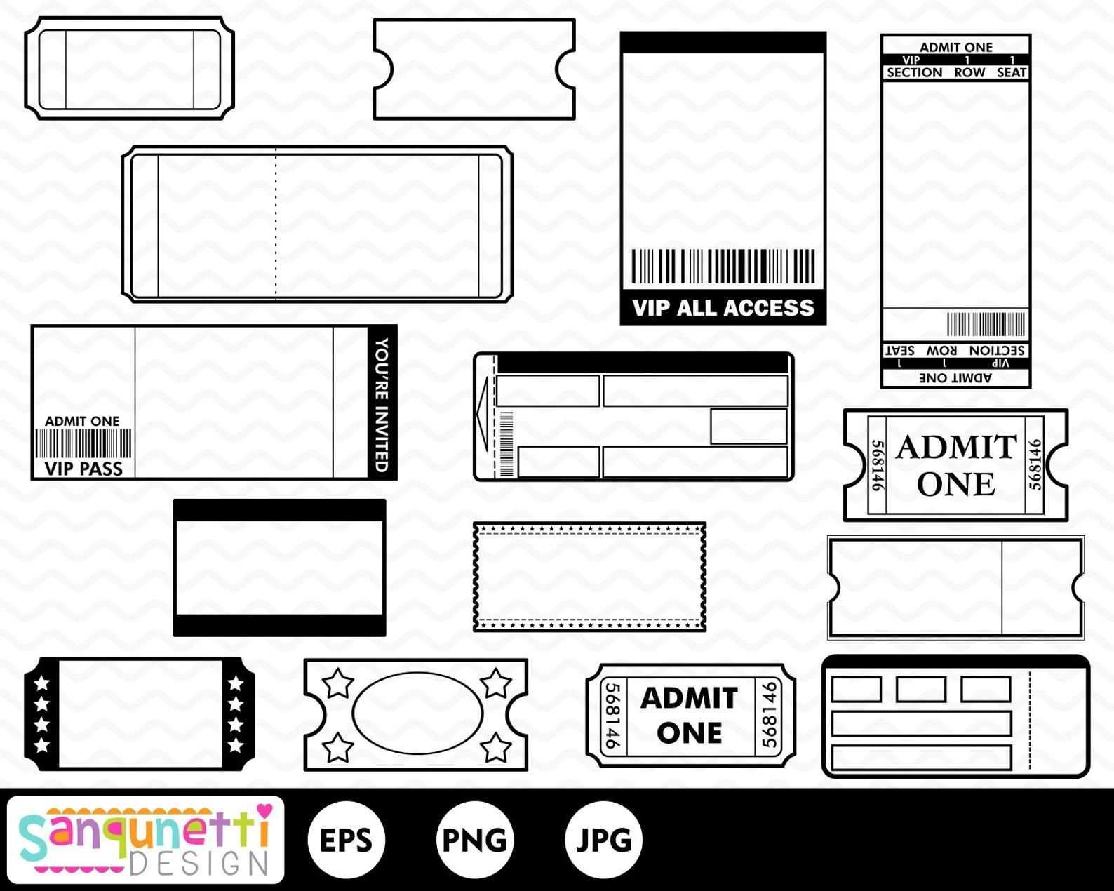 Tickets Clipart Movie Tickets Tickets For Party Invitations Etsy Scrapbook Book Diy Gifts For Mom Scrapbook Embellishments Diy