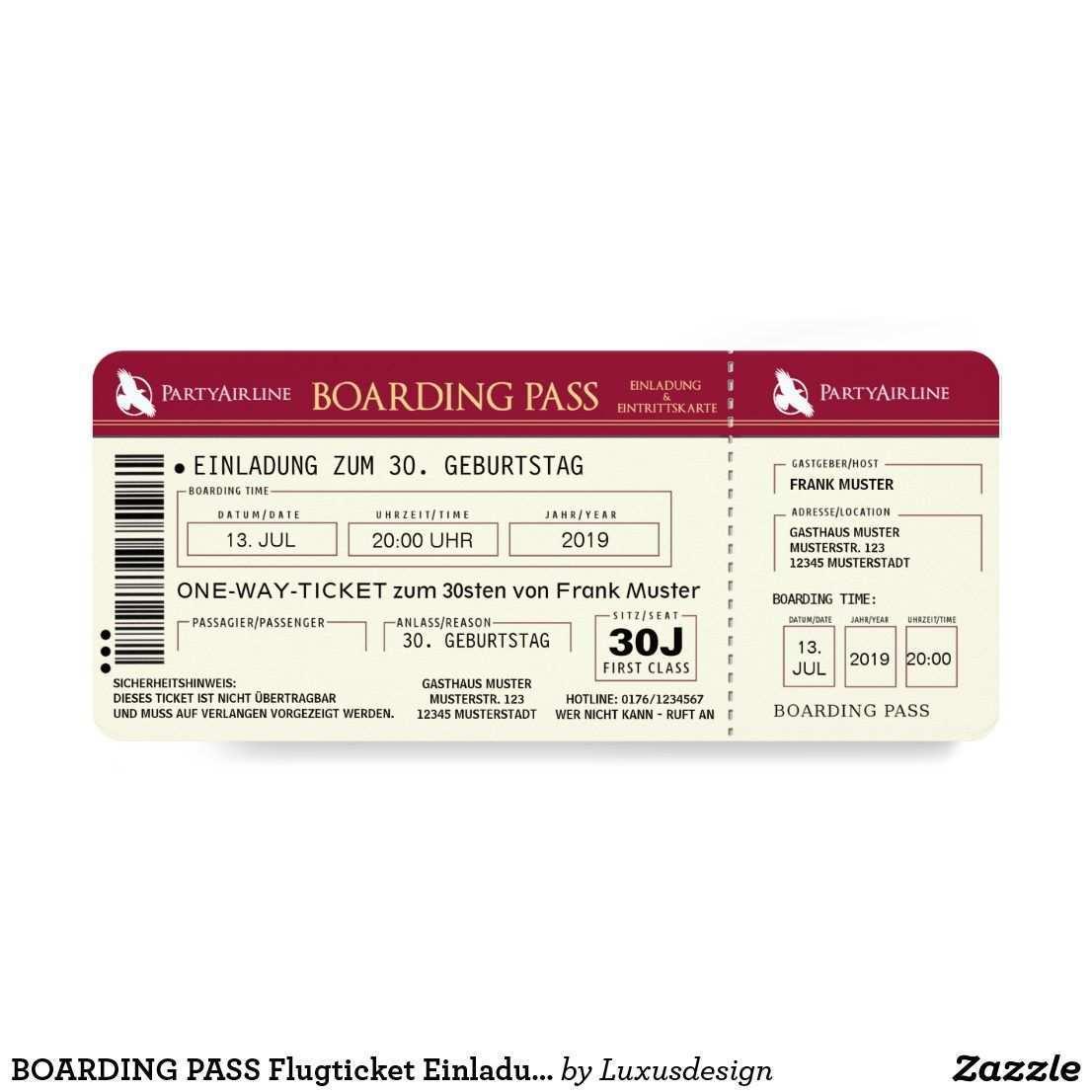 Boarding Pass Plane Ticket Invitation Map Red Zazzle Com Plane Ticket Invitation Plane Tickets Ticket Invitation
