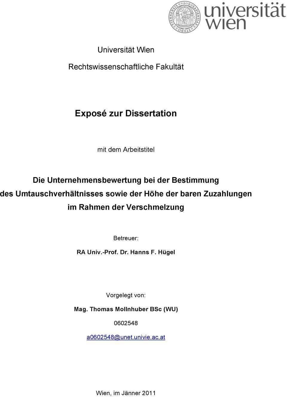 Expose Zur Dissertation Pdf Kostenfreier Download
