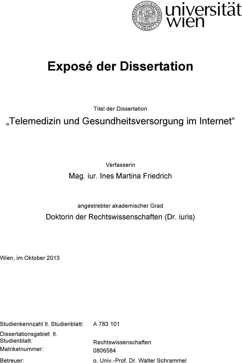 Expose Der Dissertation Pdf Kostenfreier Download