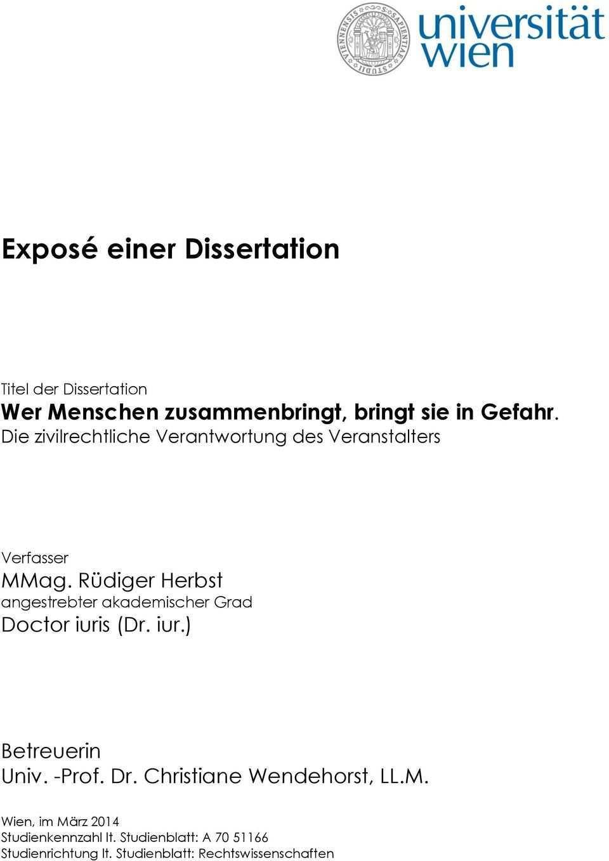 Expose Dissertation Beispiel