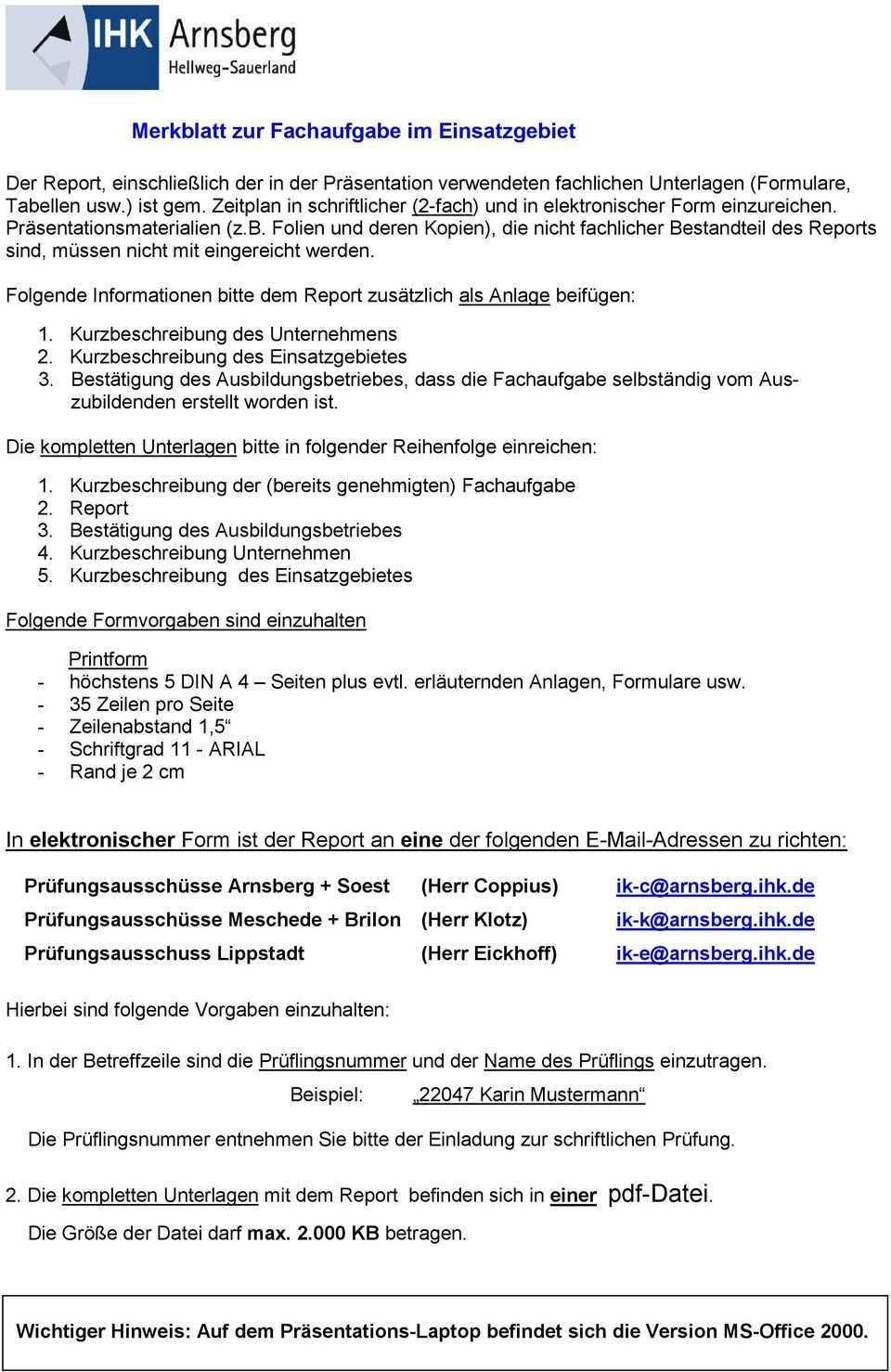 Informationen Zur Abschlussprufung Industriekaufmann Frau Fachaufgabe Im Einsatzgebiet Pdf Kostenfreier Download