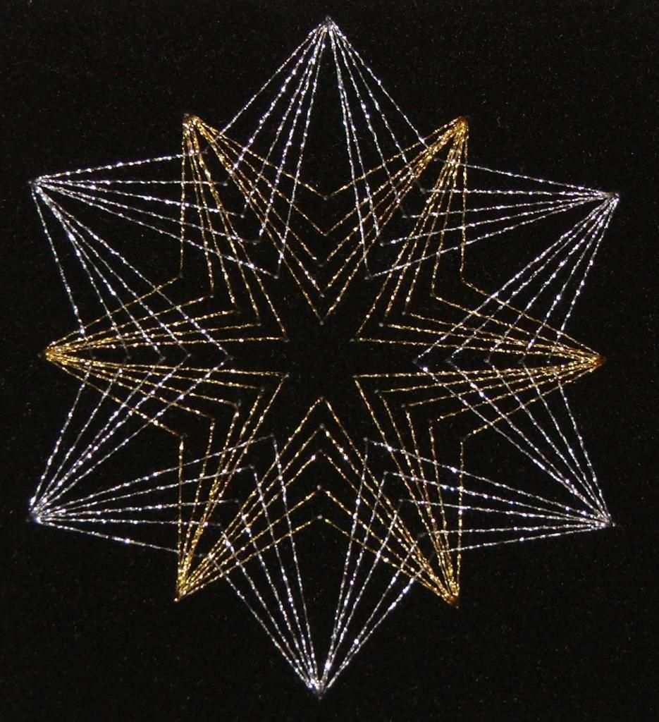 Tuc Adventskalender 2005 9 Basteltipp Weihnachtskarten Mit Fadengrafik Fadengrafik Fadengrafik Vorlagen Fadengrafik Sterne