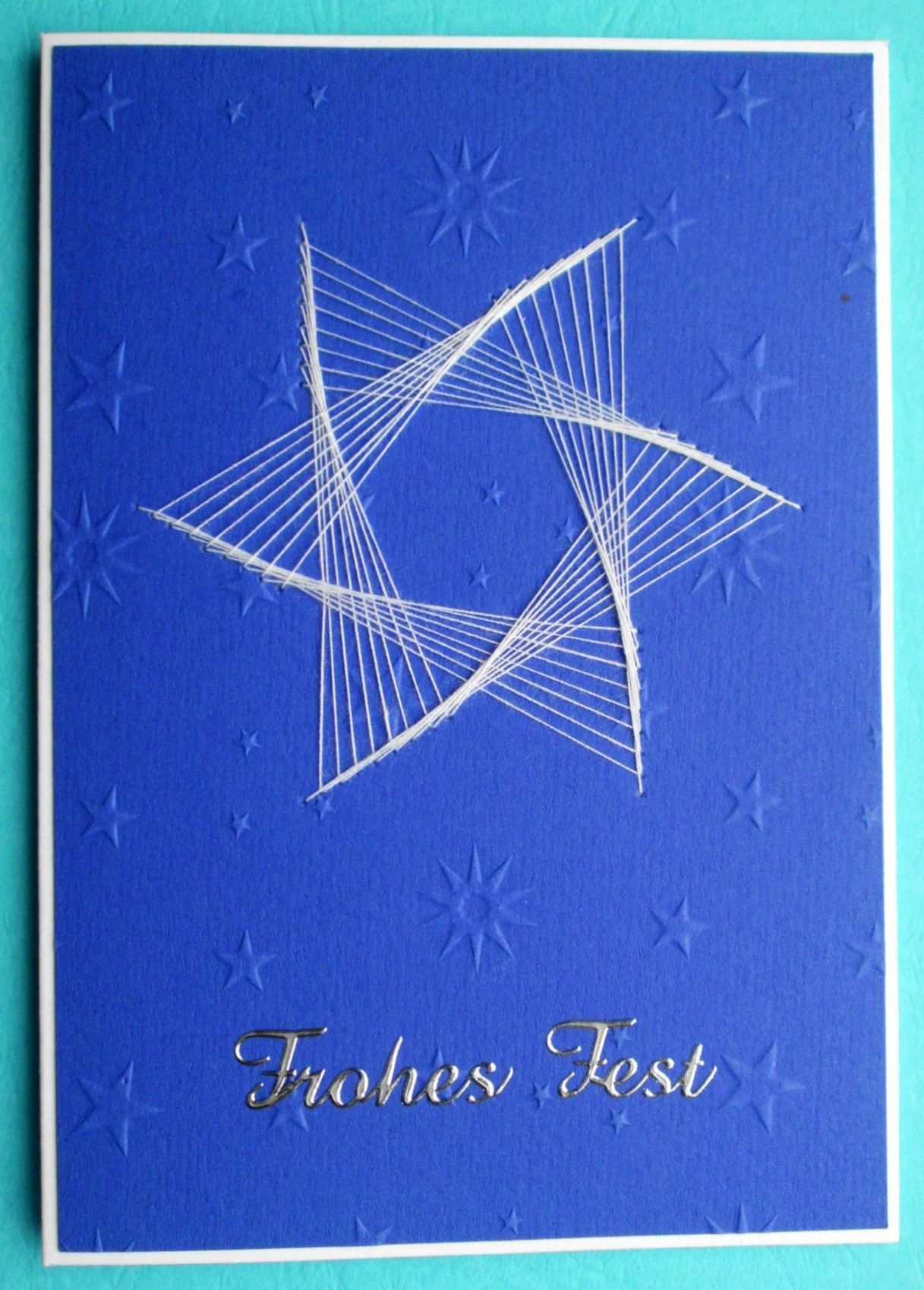 2014 Selbstgemachte Weihnachtskarte Fadengrafik Weihnachten Papierstickerei Fadengrafik Vorlagen