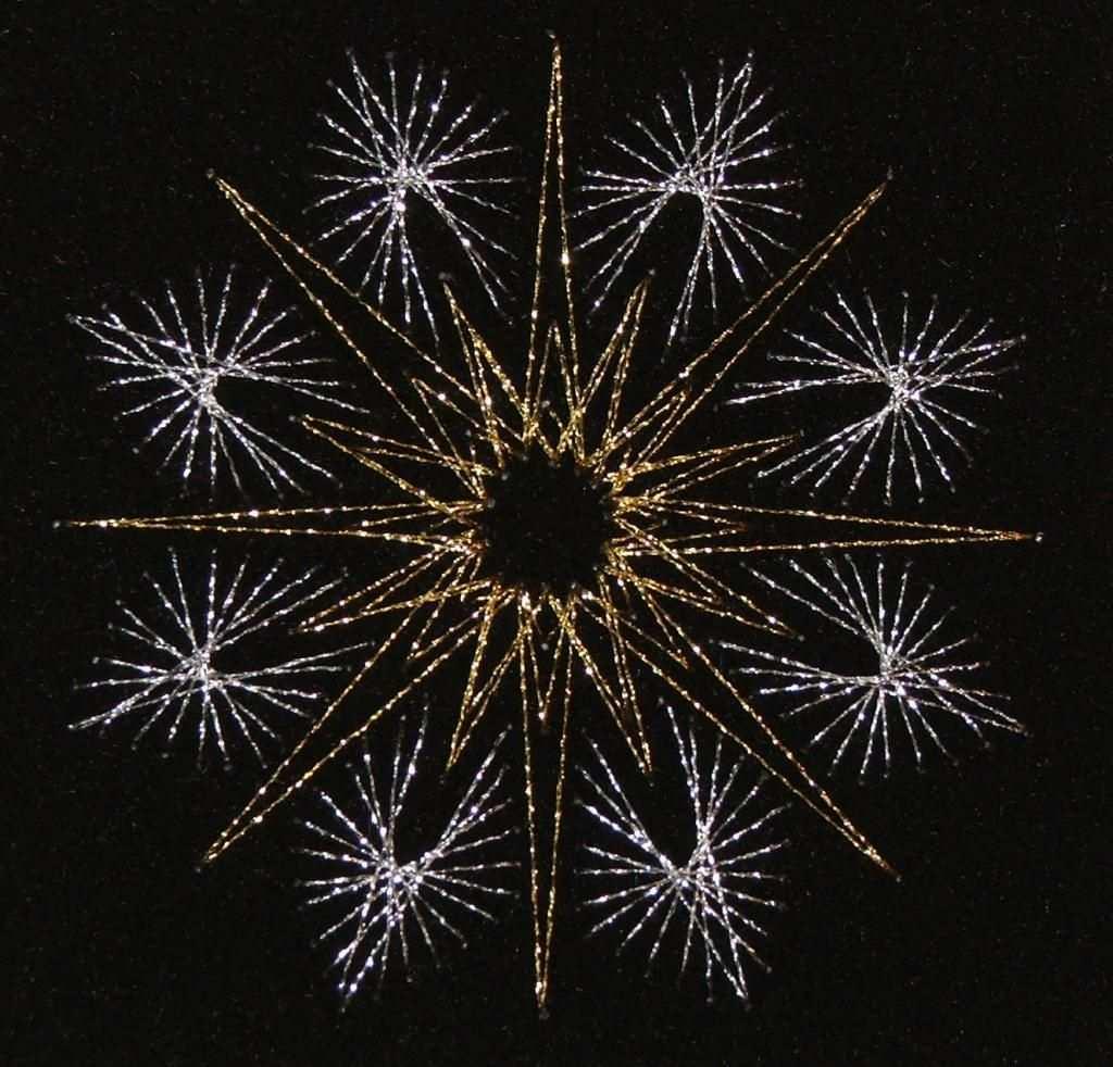 Fadengrafik Stern In Gold Und Silber Fadengrafik Fadengrafik Sterne Fadengrafik Weihnachten