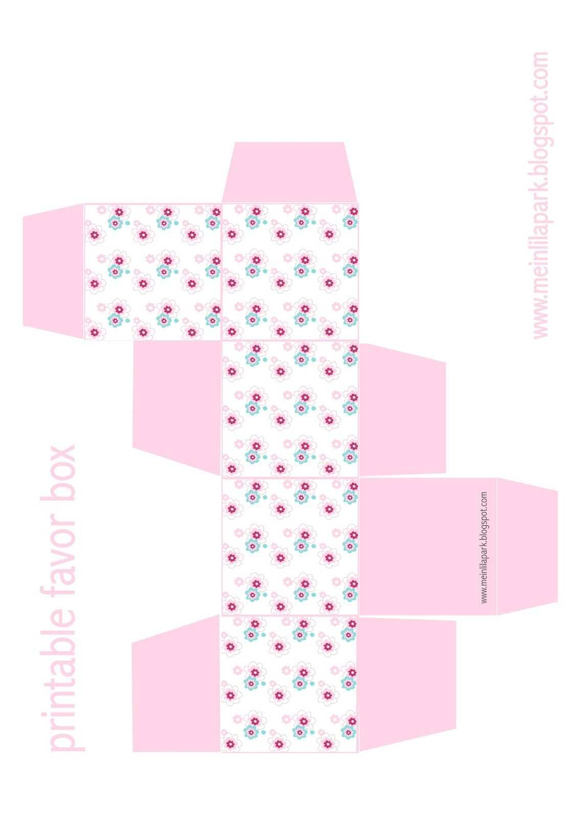 Free Printable Floral Diy Gift Box Ausdruckbare Geschenkbox Freebie Meinlilapark Diy Printables And D Schachtelvorlage Geschenkbox Aus Papier Geschenke