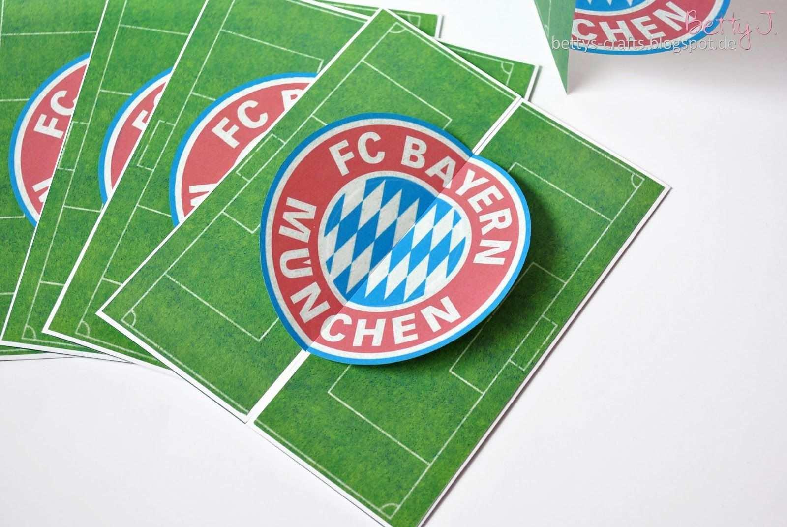 Bettys Crafts Bayern Munchen Geburtstagseinladung Einladungskarten Kindergeburtstag Kindergeburtstag Fussball Geburtstag Karte