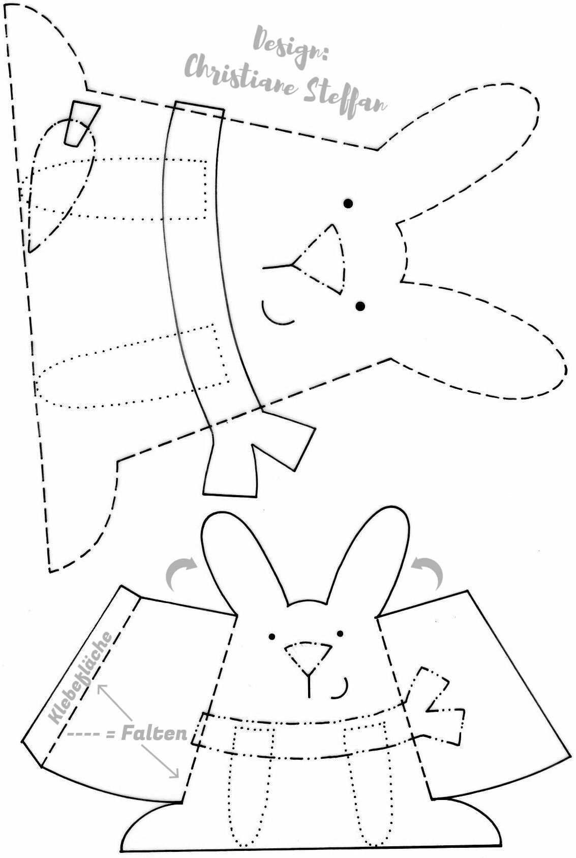 Osterhasen Vorlagen Bastelprojekte Fur Den Fruhling Osterhase Ostern