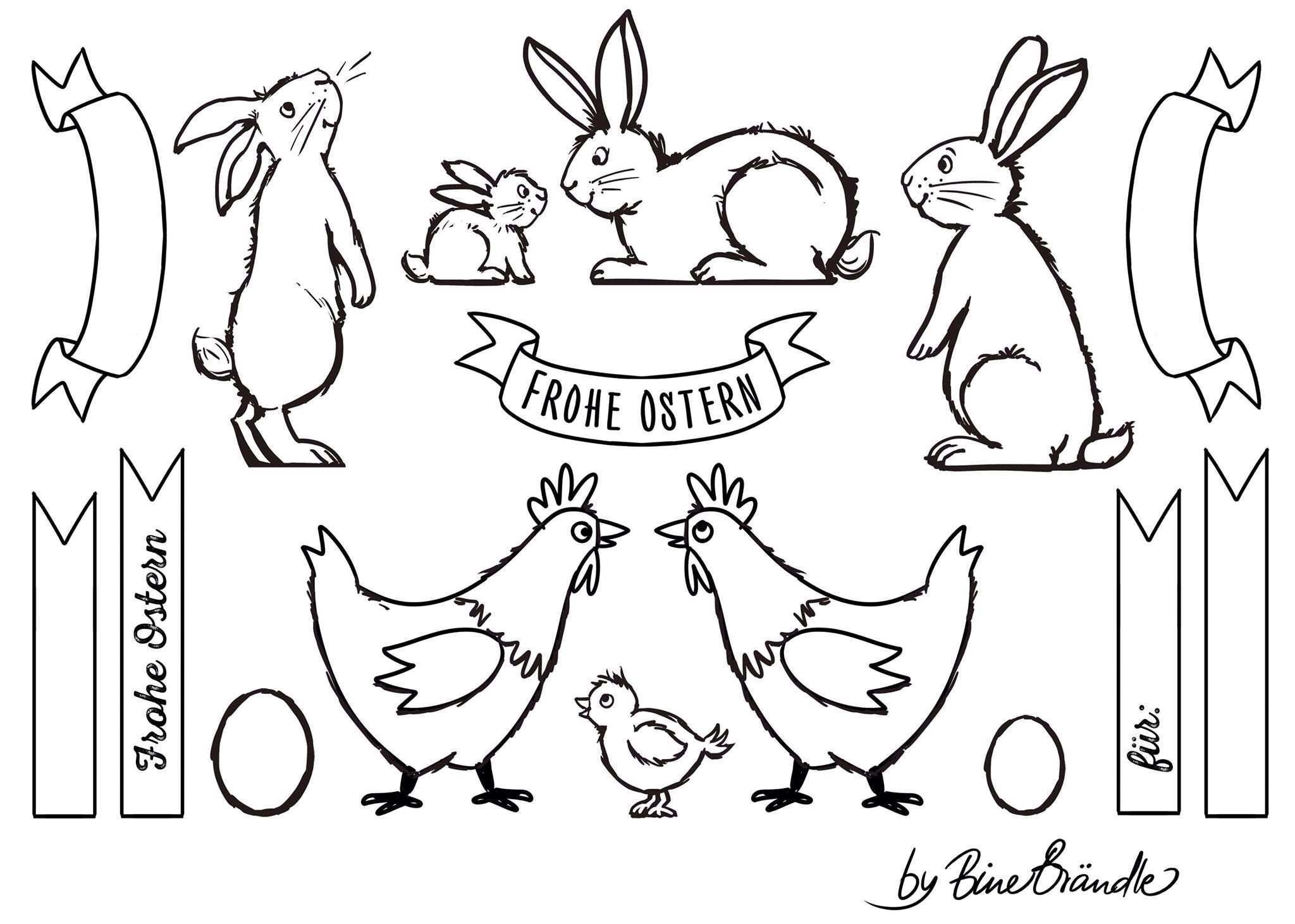 Bine Brandle Frohe Ostern Ostern Malen Kreidezeichnungen