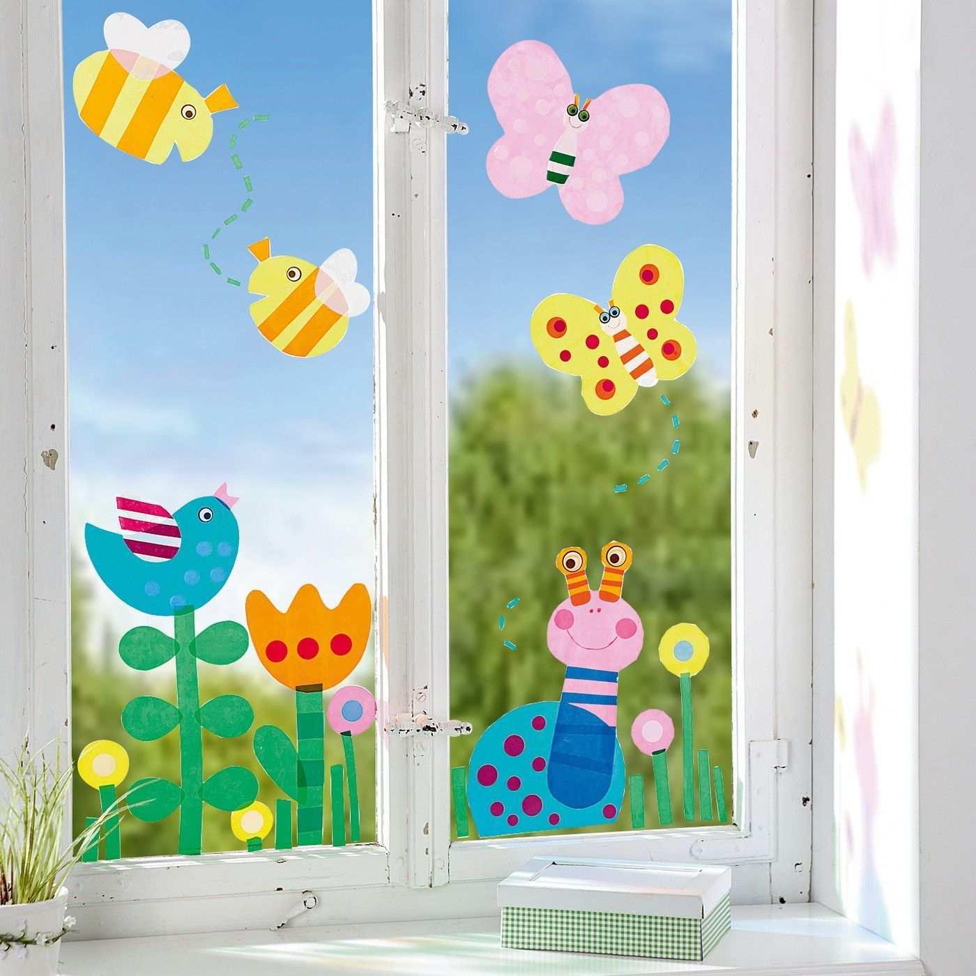 Fensterfolie Fruhling Jako O Jako O Basteln Fruhling Kinder Basteln Fruhling Kindergarten Basteln Fruhling Fensterdeko