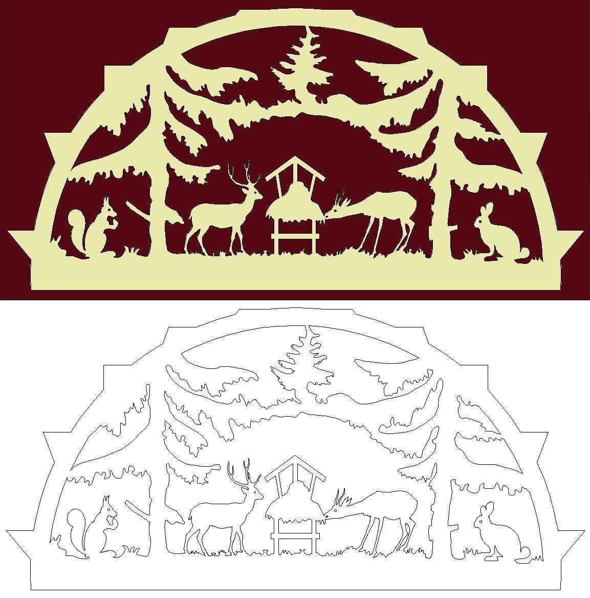 Schwibbogen Vorlage Wild An Einer Futterraufe Im Forst Weihnachtsschablonen Laubsage Vorlagen Weihnachten Holz Basteln Weihnachten