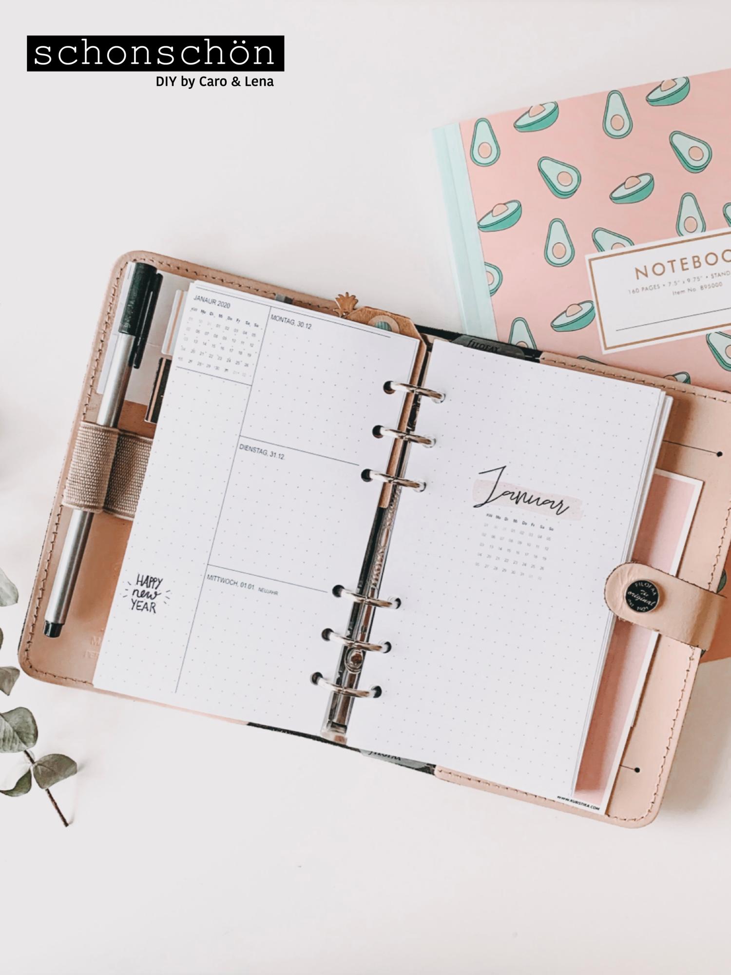 Kostenloser Download Filofax Kalender 2020 Filofax Kalender Terminplaner Vorlage Agenda Selber Gestalten