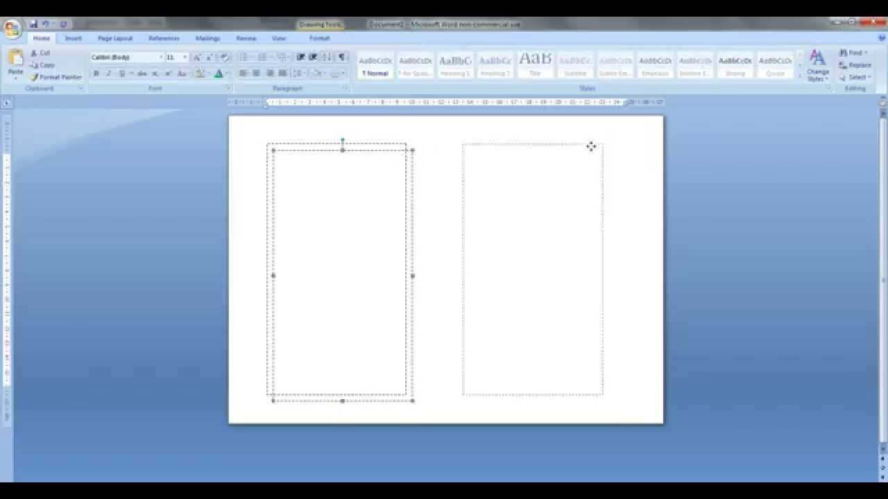 How To Create Personal Size Templates For Filofax Etc In Ms Word Youtube