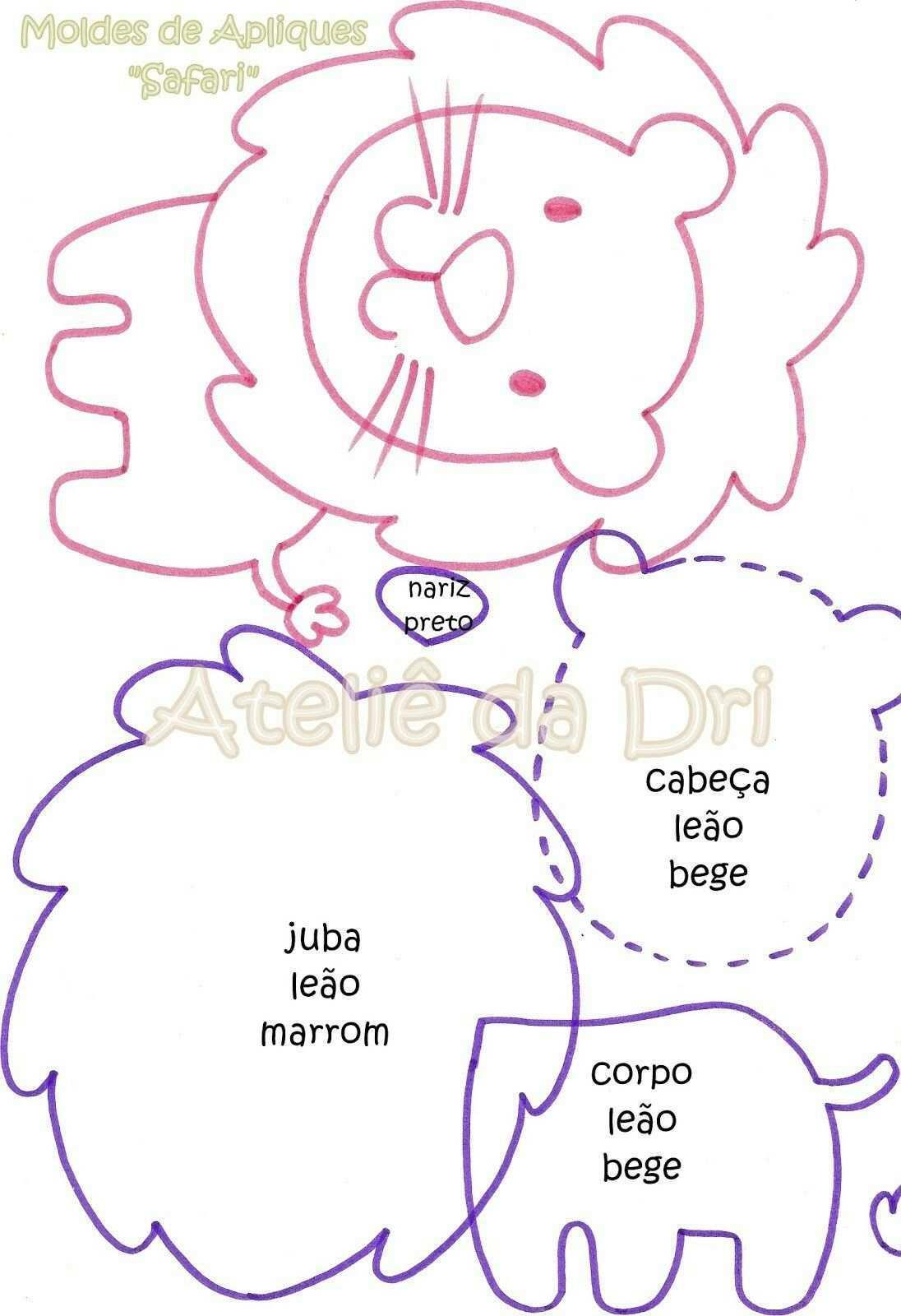 Feltanimalspatternstemplates Pannolenci Cartamodelli Stofftiere Filzen Und Filztiere Nahen