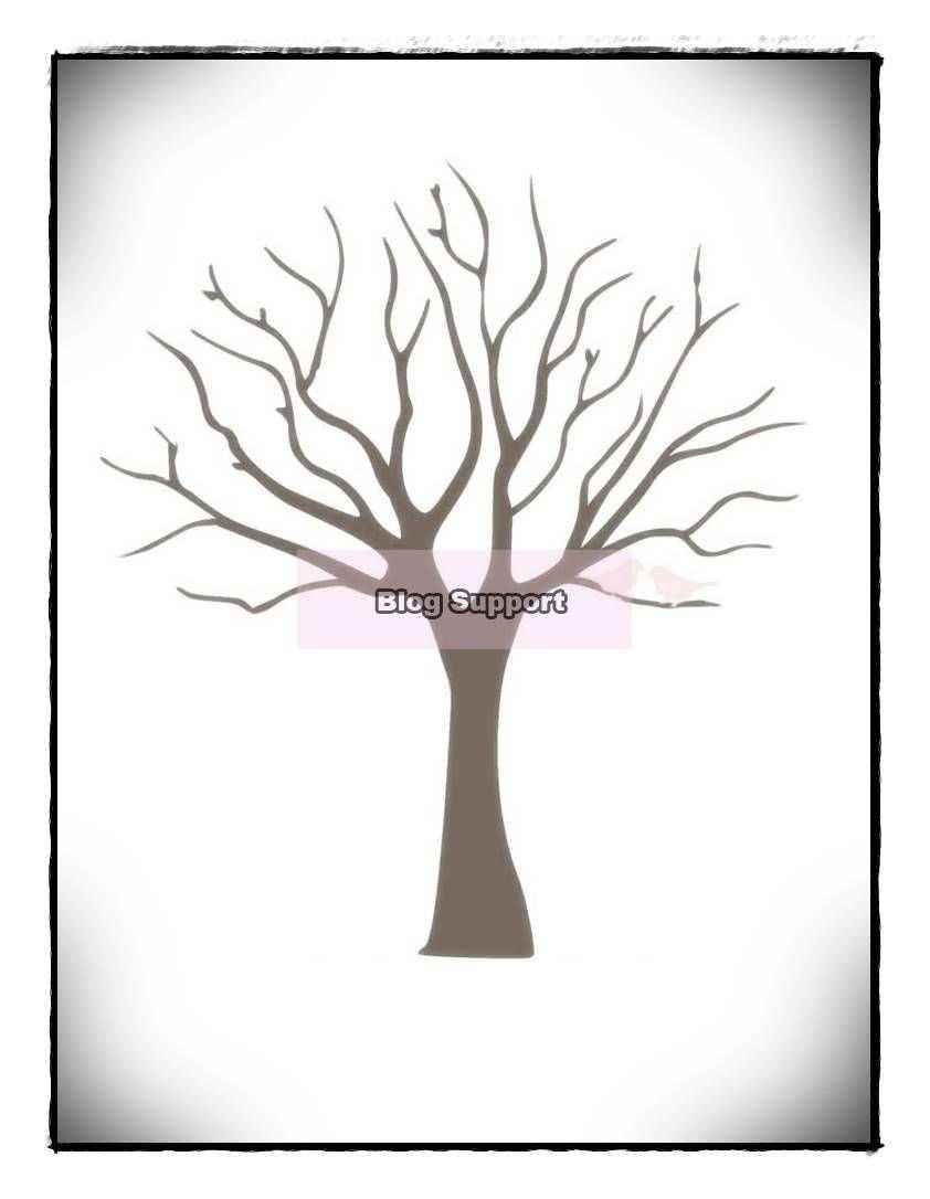 Fingerabdruck Baum Vorlage Andere Motive Kostenlos Zum Ausdrucken Tree Weddi Home Decor Decals Moose Art Art